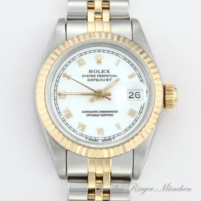 Armbanduhr rolex gold  ROLEX LADY DATE JUST STAHL GOLD 750 AUTOMATIK Damen Armbanduhr ...